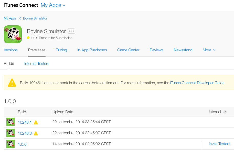 UE4 + iOS8 + GameCenter Sandbox + TestFlight: Survival guide